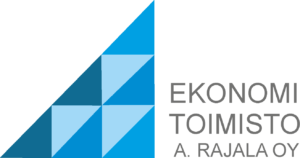 Ekonomitoimisto A. Rajalan logo.