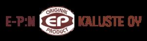 E-P:n kalusteen logo.