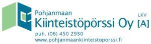 Pohjanmaan Kiinteistöpörssin logo.