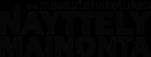 Näyttelymainonnan logo.